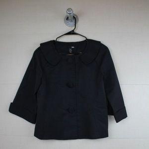 Jackie O. style waist length black jacket H&M